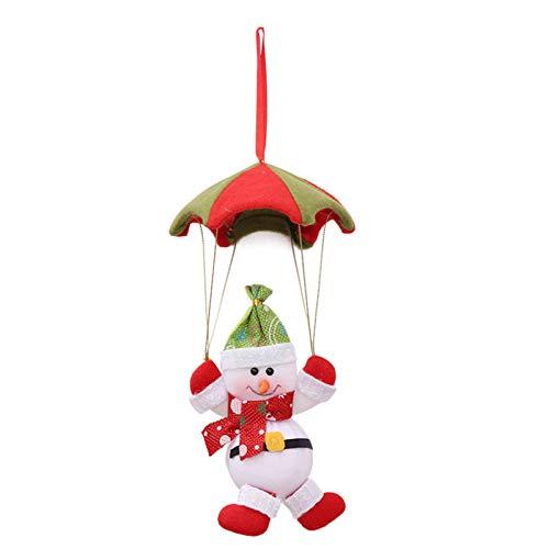 Christmas Tree Ornaments Parachute Santa Claus Snowman Christmas Hang Party Decoration Party Decor Gifts (Snowman)