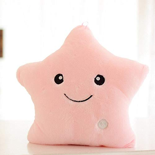 31-40cm Star Led Light Pillow Cute Star Almohada Luminosa con luz Colorida Regalo de cumpleaños de Navidad 31cm-40cm Rosa