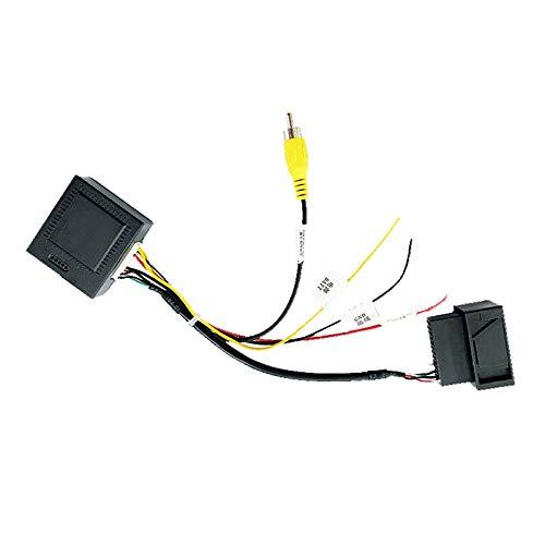 Kuinayouyi Adaptador de Caja Decodificadora Convertidor de SeeAl AV CVBS una (RCA) RGB para CáMara de VisióN Trasera de FáBrica 6 CC