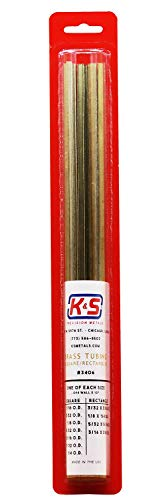 Purchase K&S Precision Metals 3406 Square/Rectangle Brass Tube, Square - 1/16, 5/32, 1/8, 5/32, 3/16...