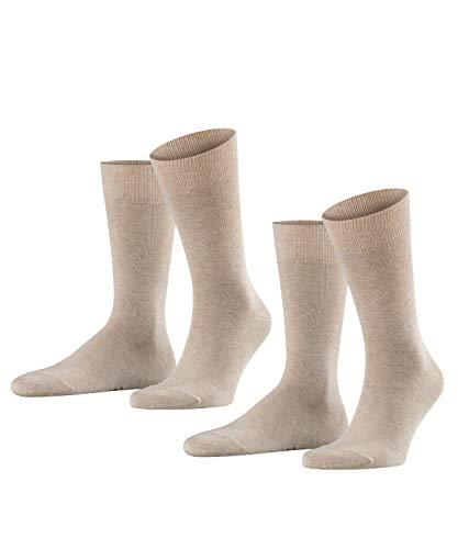 FALKE Herren Happy 2-Pack M SO Socken, Beige, 43-46 (2er Pack)