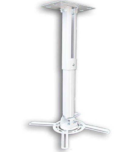 M&G Techno Beamer Projektor Deckenhalterung drehbar 360° ausziehbar bis 55 cm Weiß Stahl