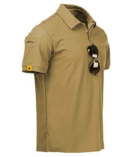 ZITY Mens Polo Shirt Cool Quick-Dry…