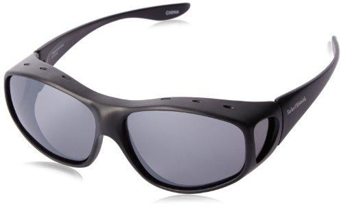 Solar Shield Yukon Polarized Square Sunglasses ,Black,54 mm