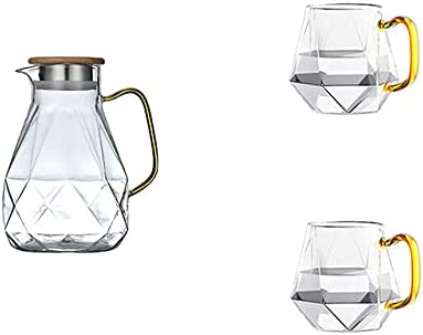 1.5L Diamond Max 50% OFF Texture Glass Teapot Set Cold Jug New Free Shipping Water T Hot