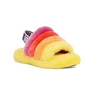 UGG Kids' K Fluff Yeah Slide Flat Sandal
