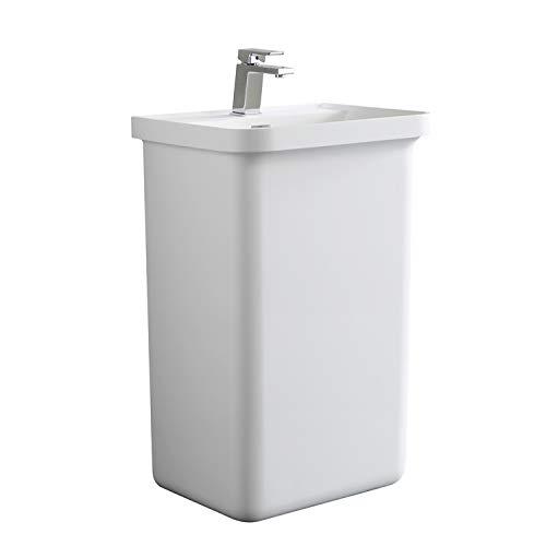 STONEART staande wastafel LZ518 wit/52x45cm/glanzend