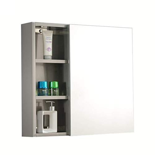 HIZLJJ Bathroom Wall Mount Medicine Cabinet with Mirror Doors and Adjustable Shelf, Bedroom Kitchen Wooden Storage Cabinets Organizer (Size : S)