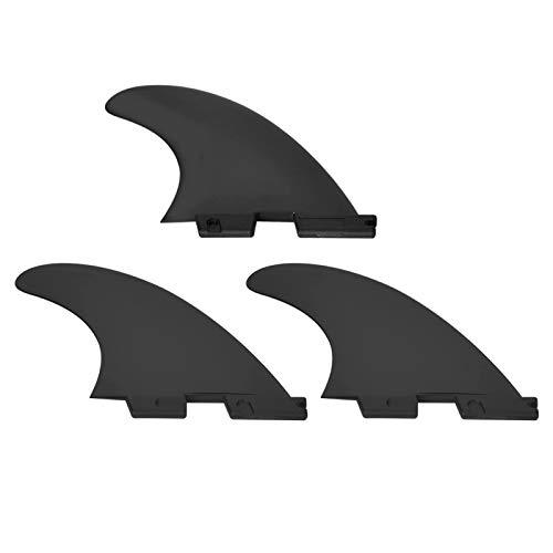 FOLOSAFENAR Aleta de Cola de Tabla de Surf de plástico Nylon 3 unids/Set FCS2 G5 Aleta de Tabla de Surf Profesional para Todo Tipo de Tablas(Black, M Size)