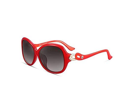 HongTeng Gafas de Sol de Mujer Tipo de Montura clásica Anti-UV Conducción Polarizador de Viaje Multicolor Opcional (Color : Red)