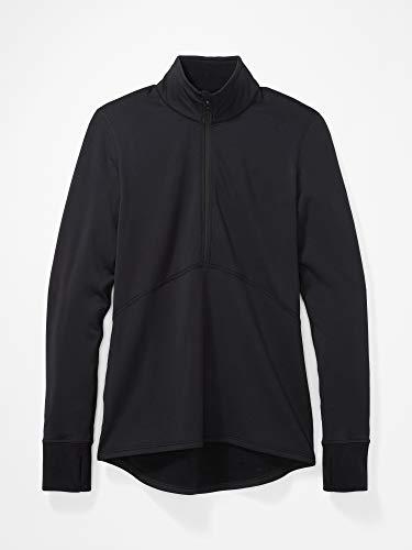 Marmot Damen Polartec Baselayer 1/2 Zip Unterhemd, Black, M