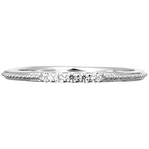 [ココカル]cococaru ダイヤモンド リング プラチナ Pt900 指輪 1号 ミル打ち ピンキーリング 天然 ダイヤ 日本製