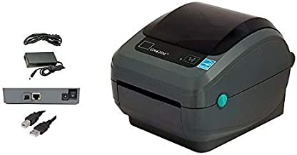 $175 » GX420D Barcode Label Printer, USB and Ethernet Interface, 4 Inch, Direct Thermal, with Power Supply (Renewed)
