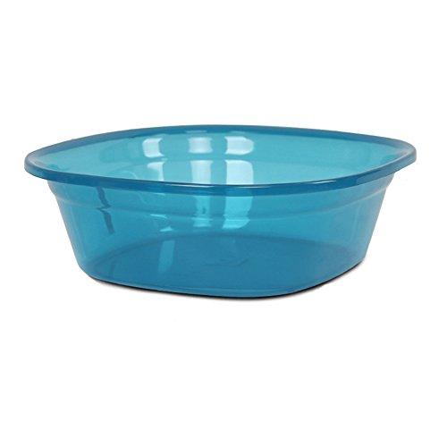 Hoge Kwaliteit Blauw Transparant Vierkante wastafel wassen Groenten Basin Wassen Basin Voetbad Gezondheid Blue(24.5 * 17 * 9.5cm)
