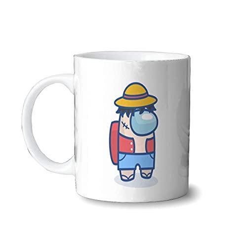Hirola Am-on-g U-s Luffy Taza de café personalizada, taza divertida de 325 ml para mujeres y hombres, tazas grandes regalos de cumpleaños para amigos