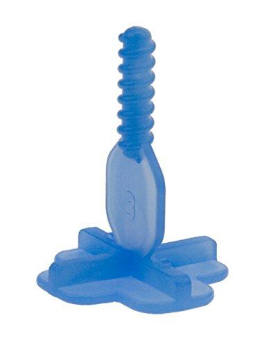 Brunoplast NIVIFIX 250 Stück Kreuz Gewindelaschen blau Kreuz-Fuge 3 mm für Fliesen Platten Nivelliersystem zum Verlegen von Wand- und Boden-Fliesen, Verlegehilfe System aus Kunststoff