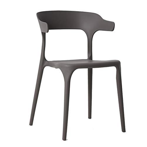 BTPDIAN Moderne minimalistische plastic kruk restaurant rugleuning stoel vrije tijd volwassen thuis hoorn stoel bureaustoel
