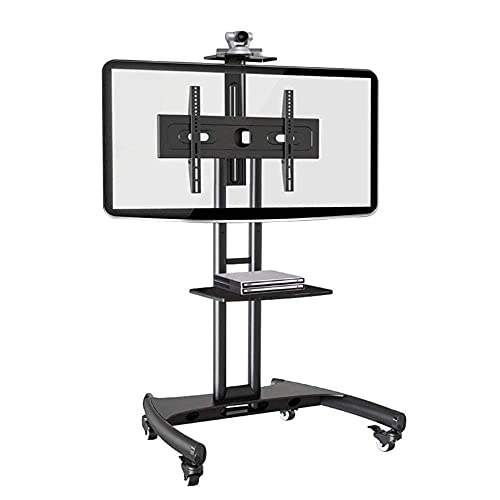 FACAZ Soporte para TV, Carrito de TV móvil 32'-65' Soporte para TV de Plasma LCD LED de Panel Plano con Bandeja para cámara y Estante AV