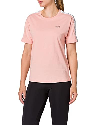 Fila Women JAKENA Taped tee Camiseta, Coral Cloud, L para Mujer