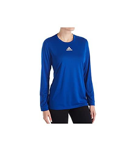 adidas Creator - Camiseta de manga larga para mujer (talla 3XL), color azul y blanco
