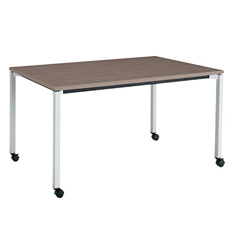 コクヨ ミーティングテーブル JUTO MT-JTK159S81MG5-CN 角形天板 4本脚 角脚 スクエアコーナー 幅150×奥行90cm 天板アッシュブラウン/脚フラットシルバー キャスター付