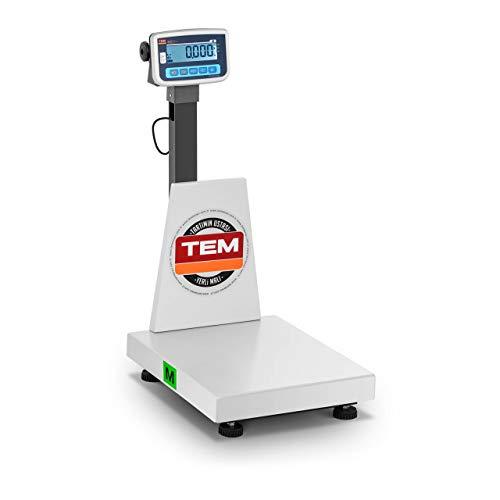 TEM Balance Plateforme Plate-Forme Plate Forme Professionnelle Industrielle BEK+C040X050150-B1 (Calibrée, 400 g à 150 kg, ±50 g, Autonomie 100 h, Plateau 40 x 50 cm, Acier/ABS, Antistatique)