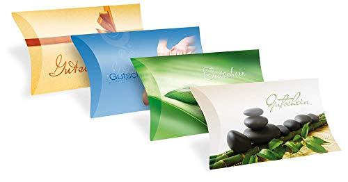 Verschiedene Motive - Gutscheinkarten Etui (10 Stück) für jeden Anlass - blanko Geschenkbox zum Eintragen der Werte
