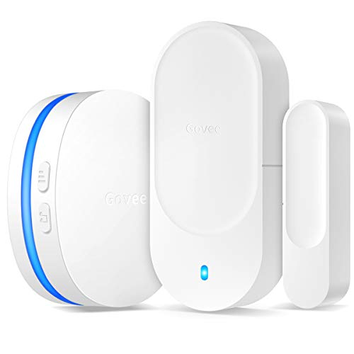 Govee Door Open Chime, 1 Magnetic Door Entry Alert Security Contact Sensor, 1 Wireless Doorbell Plugin Receiver(330 Feet, 36 Tunes, 5 Volume Levels, LED Indicators)
