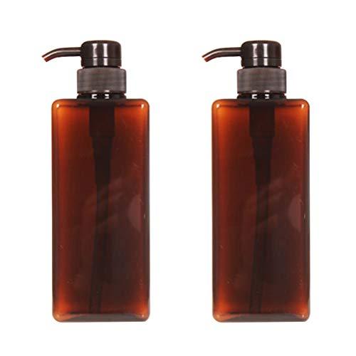 NONE Spender Shampoo Pompa Riutilizzabile Barattolo Di Bottiglia Contenitore Di Plastica Vuoto Pro Sapone 280 Ml 2 Pezzi