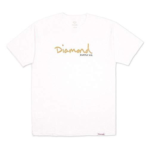 Diamond Supply Co OG Script T-Shirt White Gold Gr. 56, weiß