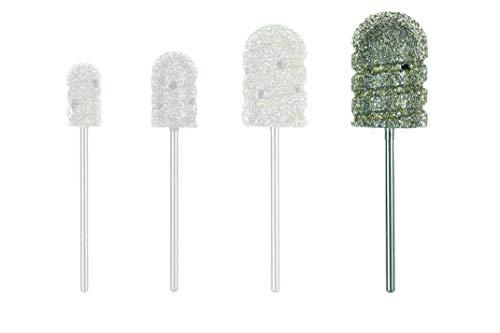 Premium Diamantfräser Bit für die Fußpflege mit einem Kopfdurchmesser von 7mm, 10mm,13mm oder 16mm professioneller Diamantschleifer Aufsatz von Stius (16mm)