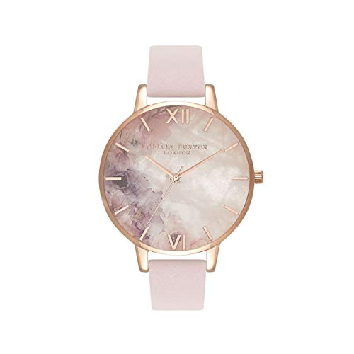 Olivia Burton Damen Analog Quarz Uhr mit Leder Armband OB16SP03