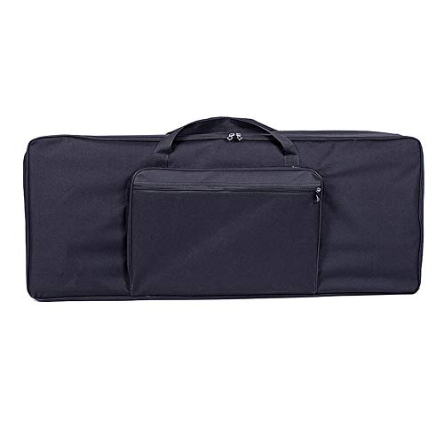Rawall E-Piano gepolsterte Tasche Gig Bag 61 Key Electric Piano Keyboard Gig Bag wasserdichte Oxford Cloth verdickte mit Baumwolle Tragbarer Wearable (Farbe : Schwarz, Größe : S)