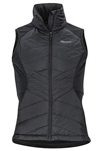 Marmot Wm's Variant Hybrid Vest Gilet Polaire, Gilet d'extérieur à Fermeture éclair sur Toute la Longueur, Respirant, Résistant au Vent Femme Black FR: M (Taille Fabricant: M)