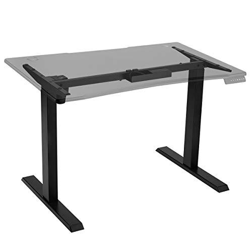 Aclumsy Höhenverstellbarer Schreibtisch Elektrisch höhenverstellbares Tischgestell, 2-Fach-Teleskop, mit Memory-Steuerung (ohne Tischplatte)