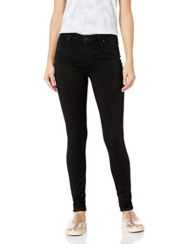 Celebrity Pink Jeans Women's Super Soft Mid Rise Skinny Jean, Black Rinse, 9