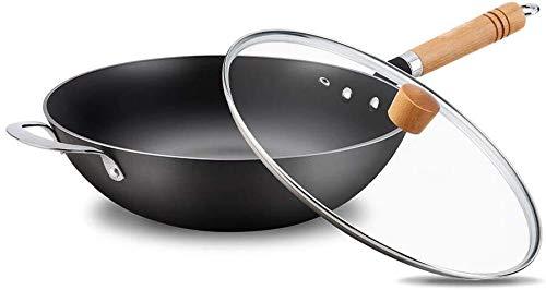 Sconosciuto Wok, Salute e Sicurezza, sensore Antiaderente, Progettato per la Tua casa, Manico Resistente al Calore, Utensili da Cucina Iron Wok, Come da Immagine, Taglia Unica