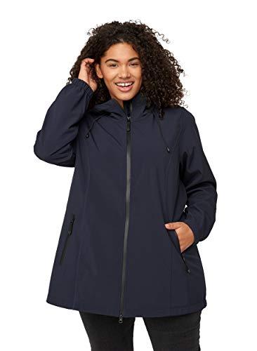 Zizzi Damen Große Größen Softshell Jacke Kapuze Outdoorjacke Gr 42-56