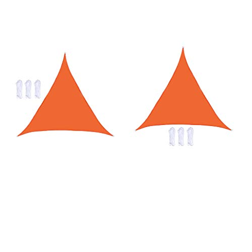 freneci Juego de 2 Toldos de Césped Duraderos Triangulares de Vela de Parasol útiles de 3x3x3m para Patio