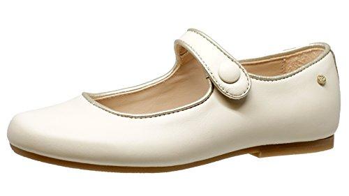 Manuela de Juan S2489, Ballerines pour Fille - Blanc - Weiß (Champagne/Off White), 30 EU
