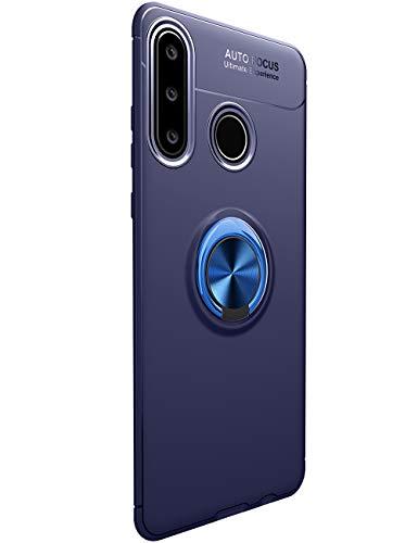 Cathanks - Funda para Huawei Y6p (soporte de metal, ultrafina, 360 grados, soporte magnético, para coche, antiarañazos, para exteriores, resistente a golpes