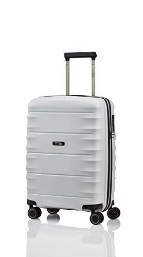 TITAN 4-Rad Handgepäck Koffer mit TSA Schloss, erfüllt IATA-Bordgepäckmaß, Gepäck Serie HIGHLIGHT: Leichte Hartschalen Trolleys im Carbon Look, 842406-33,...
