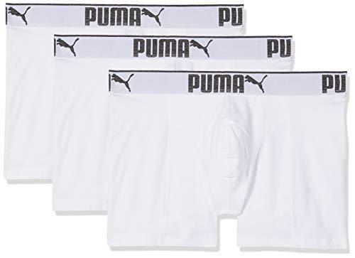 PUMA Herren Lifestyle Sueded Cotton 3p Box Badehose, Weiß (White 300), XXL (3er Pack)