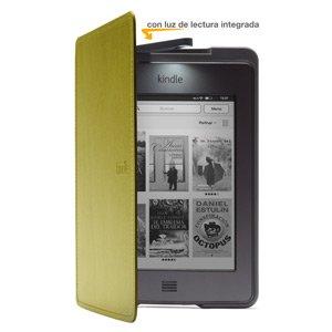 Funda de cuero con luz Amazon para Kindle Touch, color verde (sólo sirve para el Kindle Touch)