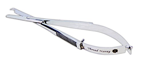 Snip a Stitch 4.5 Inch EZ Snips (4.5in) Embroidery Sewing Spring Action Scissors from ThreadNanny