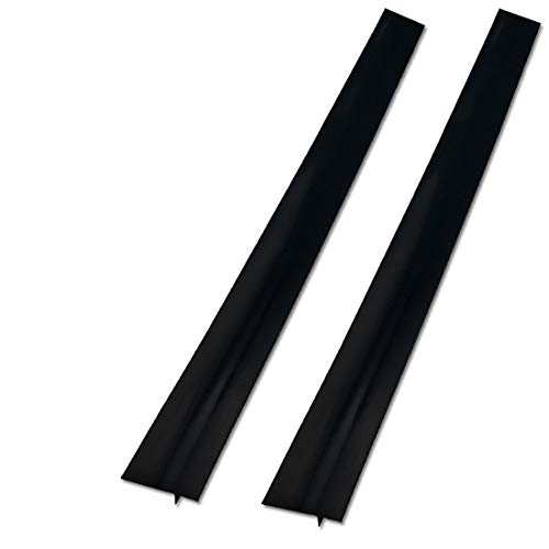2 Pack Silicone Stove Counter Gap Cover, 25 inch Long Kitchen Counter Gap Filler, Long Gap Filler Seals Spills Between Counter, Stovetop, Oven, Washing Machine and Kitchen Appliances (Black)
