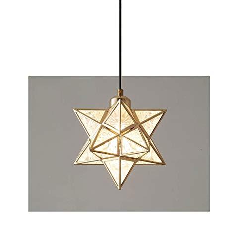 Luces de techo, lámpara colgante decorativa de vidrio de diamante geométrico, corredor de barra de barra de barra de barro. (Color : Pendant light cold)