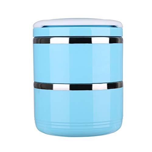 OIHODFHB Tazón portátil de agua de alimentos de viaje Set de acero inoxidable Bento Bowls a prueba de derrames de 2 niveles