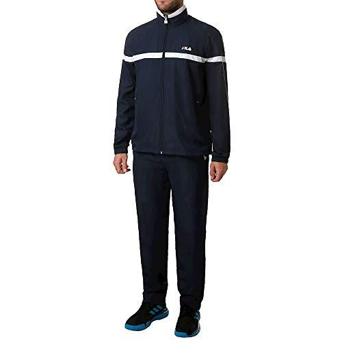 Fila Herren, Trainingsanzug Dunkelblau, Weiß, M Oberbekleidung, M
