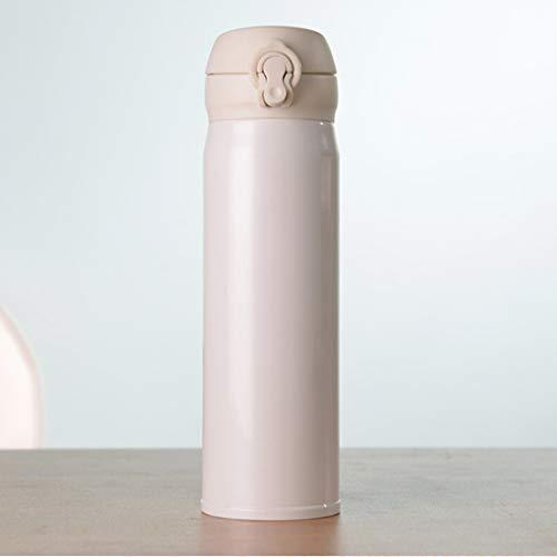 N / A Vacío Termoses Copas 450ml Botella de vacío Creativo portátil de vacío de Acero Inoxidable Frasco (Negro) (Color : White)